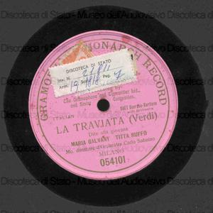 La traviata : Dite alla giovane / Verdi ; T. Ruffo ; M. Galvany ; C. Sabaino, direttore