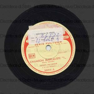 Chanson surrealiste 1 ; Henry Salvador s'amuse / H. Salvador e chitarra