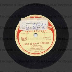 Le loup, la biche et le chevalier ; Le marchand de sable / Salvador ; Dieval, pianoforte