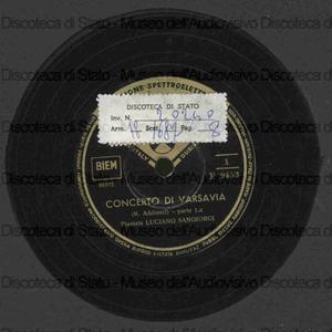 Concerto di Varsavia / R. Addinsel ; Sangiorgi, pf.