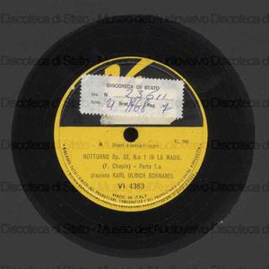 Notturno op 32 n. 1 in la magg. / F. Chopin ; K. U. Schnabel, pianoforte