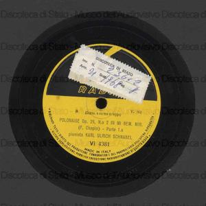 Polonaise op. 26 n. 2 in mi bem. minore / F. Chopin ; K. U. Schnabel, pianoforte