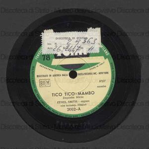 Tico tico mambo ; Lemon merengue / organo: E. Smith con accomp. ritmico