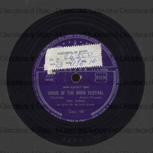 Dance of the moon festival ; Virgin of the sun god / Y. Sumac ; Orch. L. Baxter