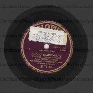 Waraka tusuy ; Cholo Traicionero / Y. Sumac, soprano ; Complesso folkloristico peruviano Moises Vivanco