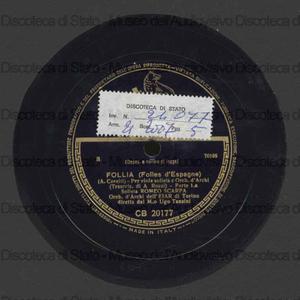 Follia : per viola solista e orch. d'archi / A. Corelli ; Orch. EIAR di Torino ; U. Tansini, direttore
