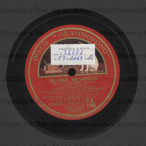 Tosca : Tre sbirri, una carrozza / Puccini. Carmen: Canzone del toreador / Bizet ; [entrambi i brani eseguiti da] Lorenzo Tibbett, baritono ; G. Setti, direttore