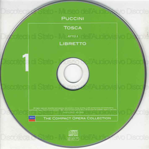 Tosca / Giacomo Puccini ; Libretto: Giuseppe Giacosa Luigi Illica ; Wesrminster Symphonic Choir ; Philadelphia Boys Choir ; Philadelphia Orchestra ; Riccardo Muti ; [interpreti]: C. Vaness, G. Giacomini, G. Zancanaro ......