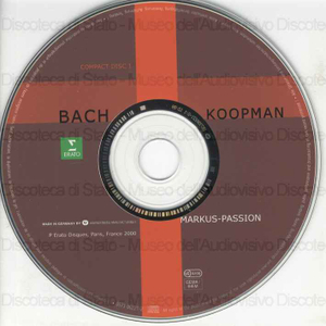 Markus-Passion = Saint Mark Passion = Passion selon saint Marc / Johann Sebastian ; The Amsterdam Baroque Orchestra & Choir ; Boys of the Breda Sacrament Choir ; Ton Koopman ; [interpreti]: S. Rubens, B. Landauer, P. Agew...