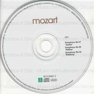 "Symphony No. 41 in C major : ""Jupiter"" : KV 551 ; Symphony No. 35 in D major : ""Haffner"" : KV 385 ; Symphony No. 34 in C major : ""Salzburg"" : KV 338 ... / Wolfgang Amadeus Mozart ; Amsterdam Baroque Orchestra ; [direttore..."