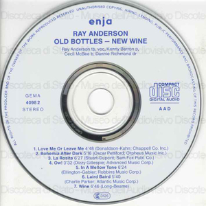 Old bottles, new wine / Ray Anderson, trombone ; Kenny Barron, piano ; Cecil McBee, bass ; Dannie Richmond, drums