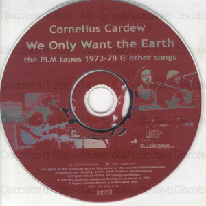 We only want the earth / Cornelius Cardew