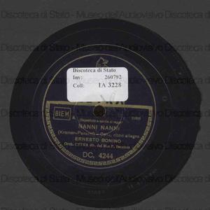 Nanni Nanni ; Barcellonita / Orchestra Cetra dir. dal Maestro P. Barzizza ; [br.1 e 2] Ernesto Bonino ; [br.2] Silvana Fioresi
