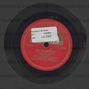 Will you remember? ; Farewell to dreams / Jeanette MacDonald, soprano ; Nelson Eddy, baritono ; orchestra condotta da Nathaneil Shilkret