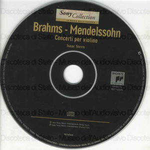 Concerti per violino / Johannes Brahms ; Felix Mendelssohn ; Isaac Stern, violino ; New York Philharmonic ; [direttore d'orchestra] : Zubin Mehta ; Philadelphia Orchestra ; [direttore d'orchestra] : Eugene Ormandy.
