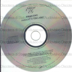 Ambient 4 / On land / Brian Eno