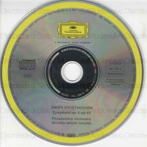 Symphony no. 4, op. 43 / Dmitri Shostakovich ; Philadelphia Orchestra ; Myung-Whun Chung