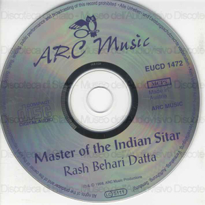 Master of the Indian Sitar / Rash Behari Datta