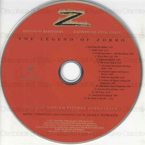 The Legend of Zorro : Original Motion Picture Soundtrack / Music composed and conducted by James Horner