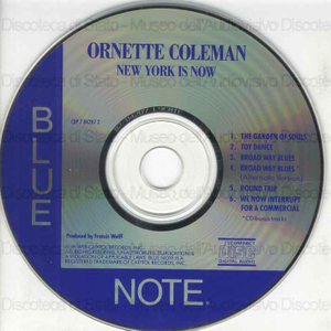 New York is now / Ornette Coleman ; Dewey Redman ; Jimmy Garrison ; Elvin Jones