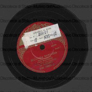 Seconda Rapsodia / George Gershwin ; Paul Whiteman e la sua orchestra da concerto
