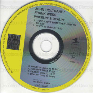 Wheelin'''' & dealin''''''''''' / John Coltrane, Frank Wess
