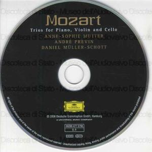 Trios for piano, violin and cello / Mozart ; Anne-Sophie Mutter, violin ; André Previn, piano ; Daniel Muller-Schott, cello