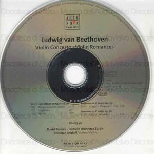 Violin Concerto Op. 61 ; Violin Romances Op. 40 & 50 / Ludwig van Beethoven, compositore ; Christian Tetzlaff, violino ; Tonhalle Orchestra Zurich ; David Zinman, conductor