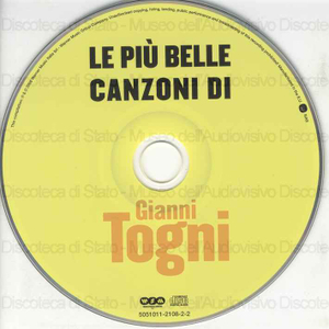 Gianni Togni : Le più belle canzoni di / Gianni togni