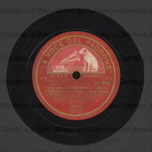 Tosca : Se la giurata fede devo tradire ; E lucean le stelle / Puccini ; Sardou ; Illica ; Giacosa ; [sop.] M. Caniglia ; [ten.] B. Gigli ; [bar.] A. Borgioli ; [dir.] Oliviero De Fabritiis ; Orchestra del Teatro Reale...