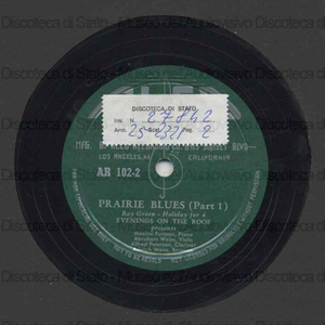 Prairie blues / Ray Green ; Maxine Furman, piano ; Abraham Weiss, viola ; Alfred Peterson, clarinet ; Adolph Weiss, bassoon