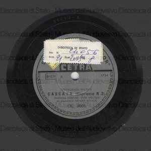 Cascata : Capriccio n.2 / Francesco Vecsey. Capriccio n.13 / Nicolò Paganini ; violinista Ferenc von Vecsey ; al piano Guido Agosti