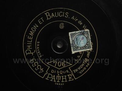 Philémon et Baucis ; couplets de Vulcain