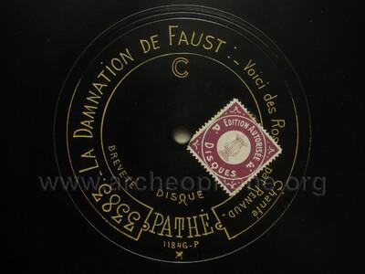 La Damnation de Faust ; voici des roses