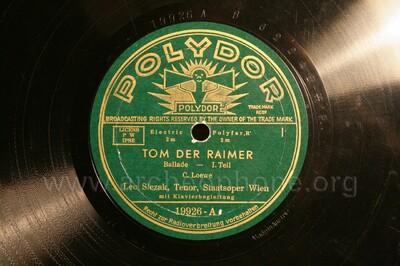 Tom der Reimer ; Ballade, op. 135 a