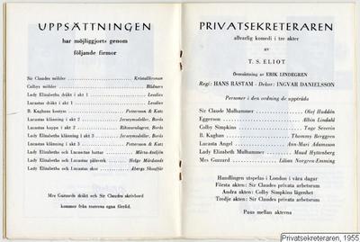 Privatsekreteraren, 1955, Privatsekreteraren