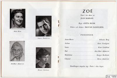 Zoé, 1956, Zoe, Zoé
