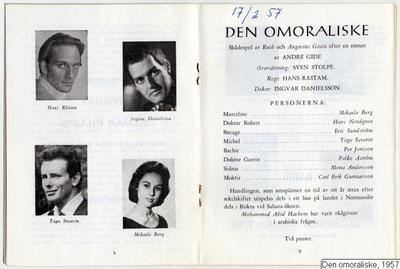 Den omoraliske, 1957, Den omoraliske