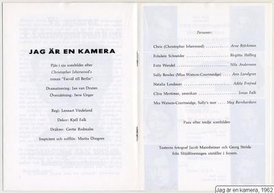 Jag är en kamera, 1962, Jag är en kamera, Farväl till Berlin [roman]