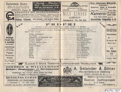 Phi-Phi, 1921, Phi-Phi