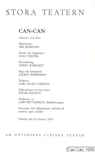 Can-Can, 1955, Can-Can