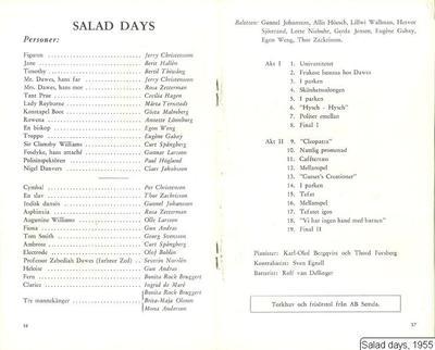 Salad days, 1955, Salad Days