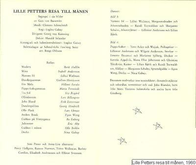 Lille Petters resa till månen, 1960, Lille Petters resa till månen