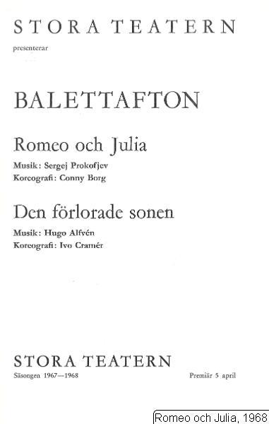 Romeo och Julia, 1968, Romeo och Julia