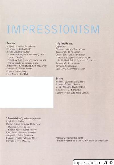 Impressionism, 2003, Impressionism