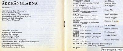 Ärkeänglarna, 1970, Ärkeänglarna
