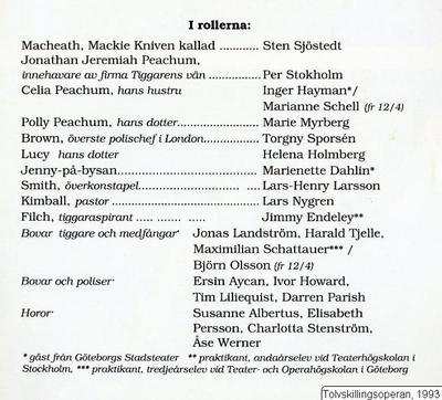 Tolvskillingsoperan, 1993, Tolvskillingsoperan