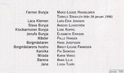 Jenufa, 1995, Jenufa