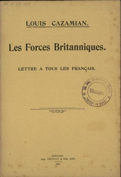 Les forces britanniques lettre à tous les français