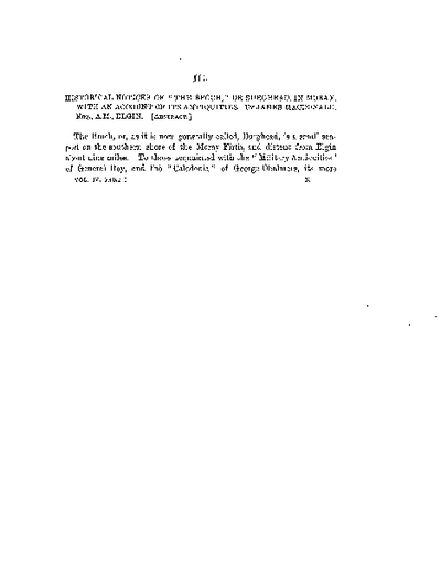 Historical Notices of the 'Broch' or Burghead, in Moray, with an Account of its Antiquties., Volume 4, 321-69